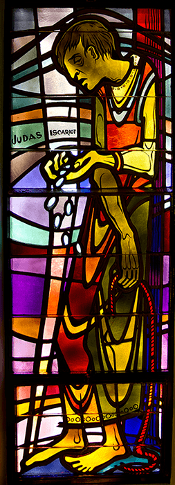 Judas, Stained Glass at St. Patrick Parish